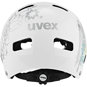 UVEX Kid 3 Casco Niños, white flower